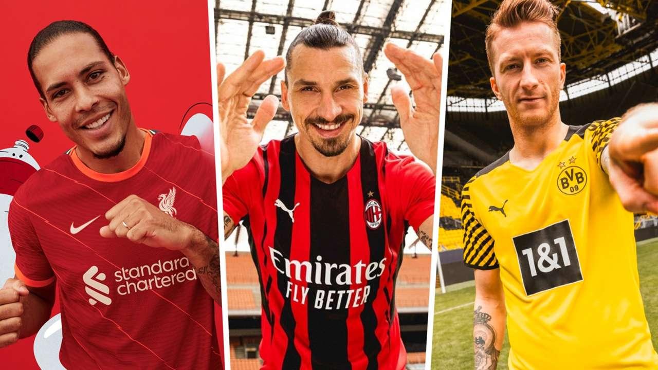 New kits 2021-22 AC Milan Liverpool Borussia Dortmund