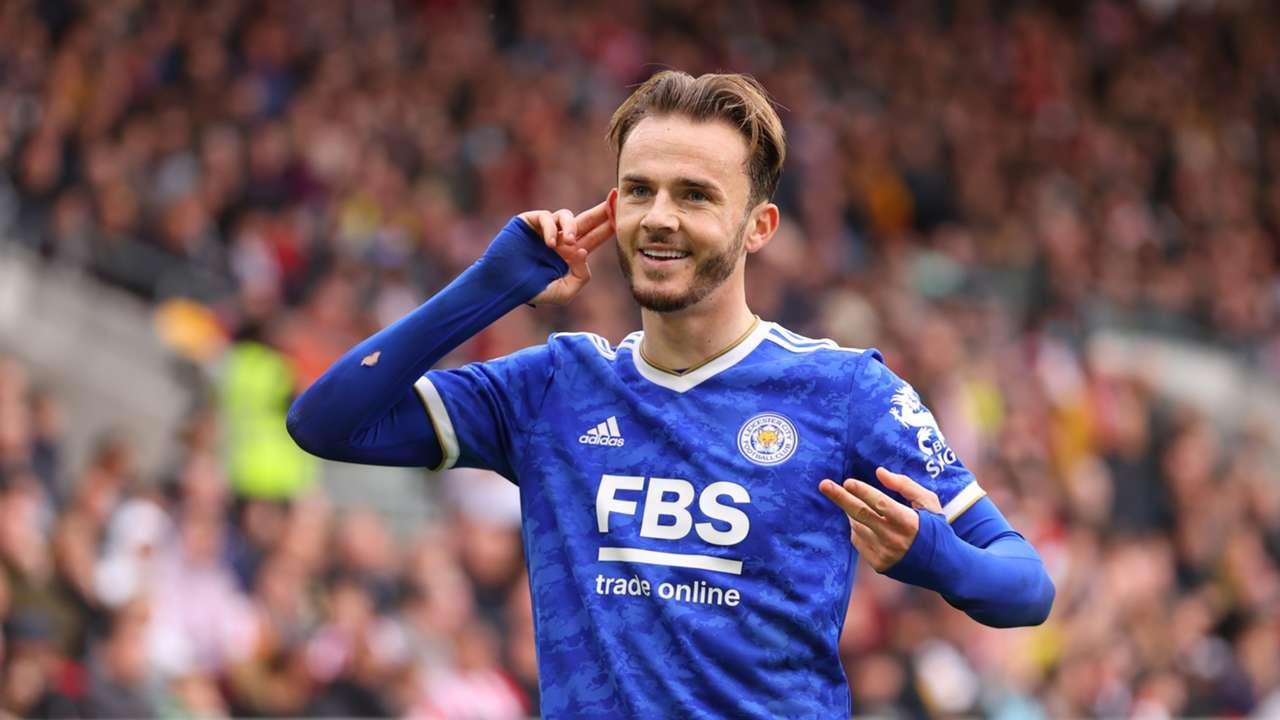 James Maddison Leicester Brentford 2021-22