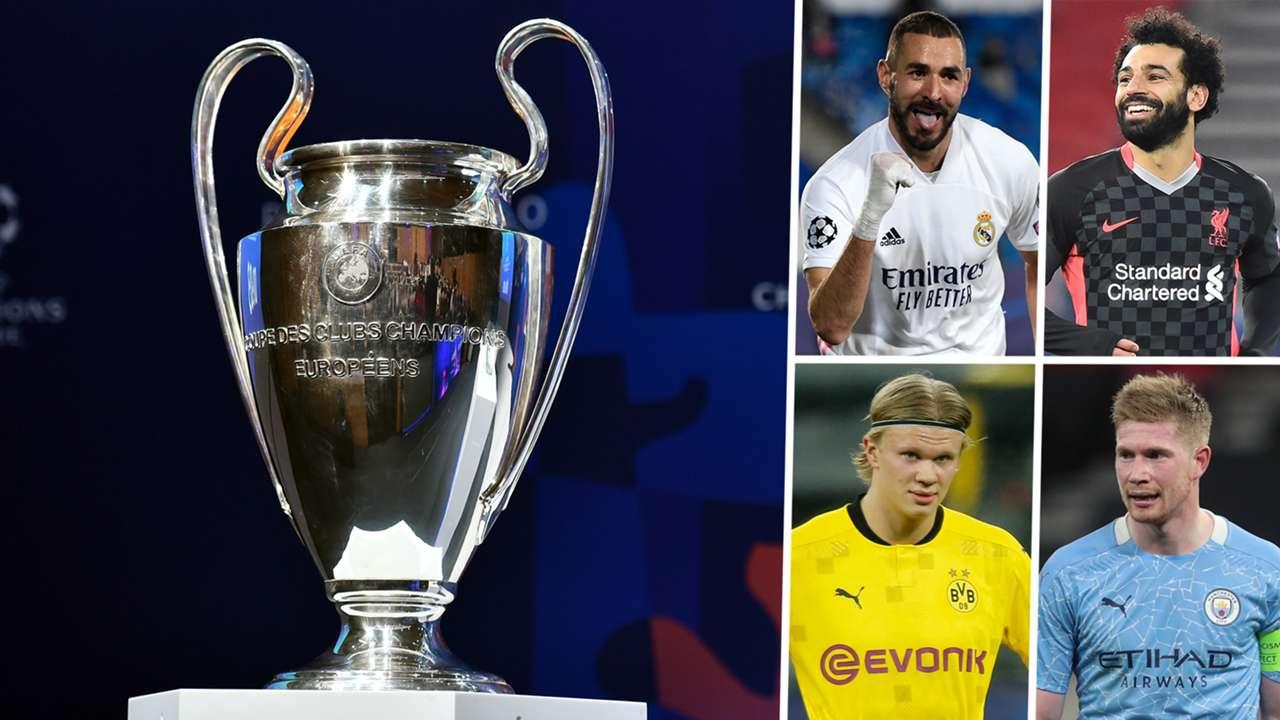 Champions League draw Karim Benzema Mohamed Salah Erling Haaland Kevin De Bruyne