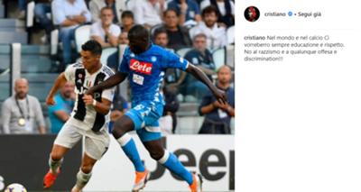 Cristiano Ronaldo koulibaly social