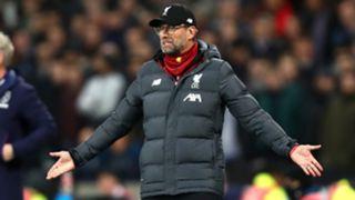 Jurgen Klopp Liverpool West Ham 2019-20