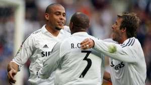Ronaldo Robert Carlos David Beckham Real Madrid