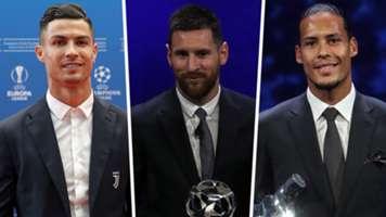 Cristiano Ronaldo Lionel Messi Virgil van Dijk 2019