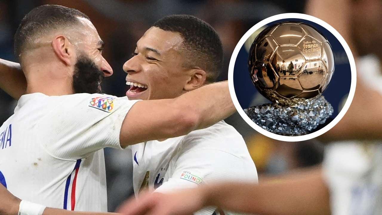 Benzema Mbappe Ballon d'Or GFX
