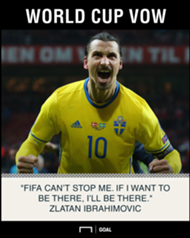 Zlatan Ibrahimovic World Cup FIFA can't stop me