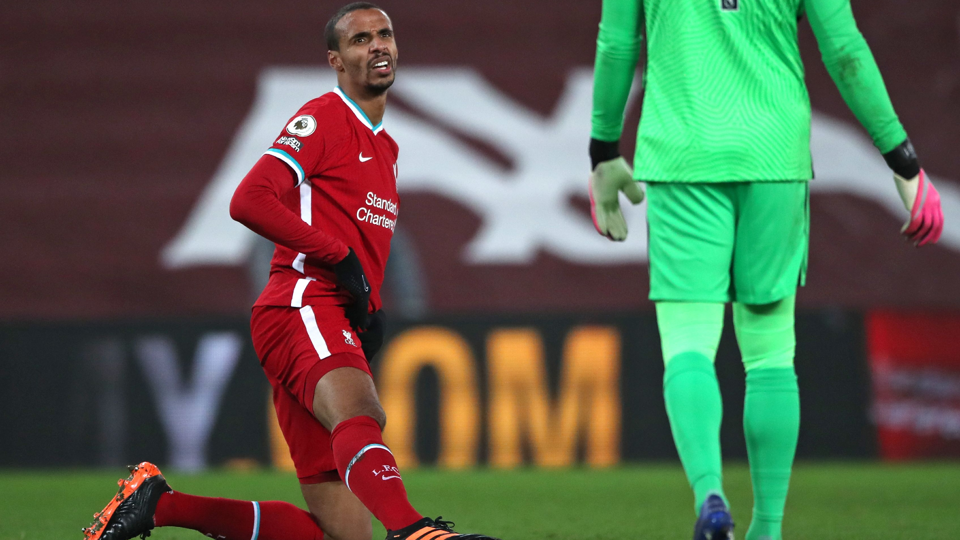 Matip forced off with groin problem as Liverpool defensive injury crisis grows
