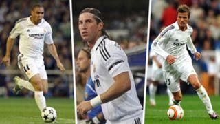 Ronaldo, Sergio Ramos, David Beckham, Real Madrid