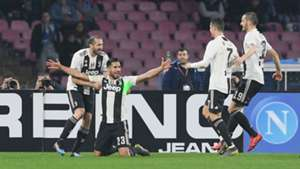 Juventus Emre Can celebrating Napoli