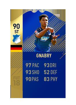 FIFA 18 Bundesliga Team of the Season Serge Gnabry