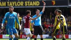 Watford's Jose Holebas red vs West Ham
