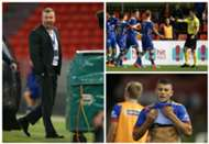 Mark Jones Jason Hoffman Andrew Nabbout Newcastle Jets v Brisbane Roar A-League 05032017