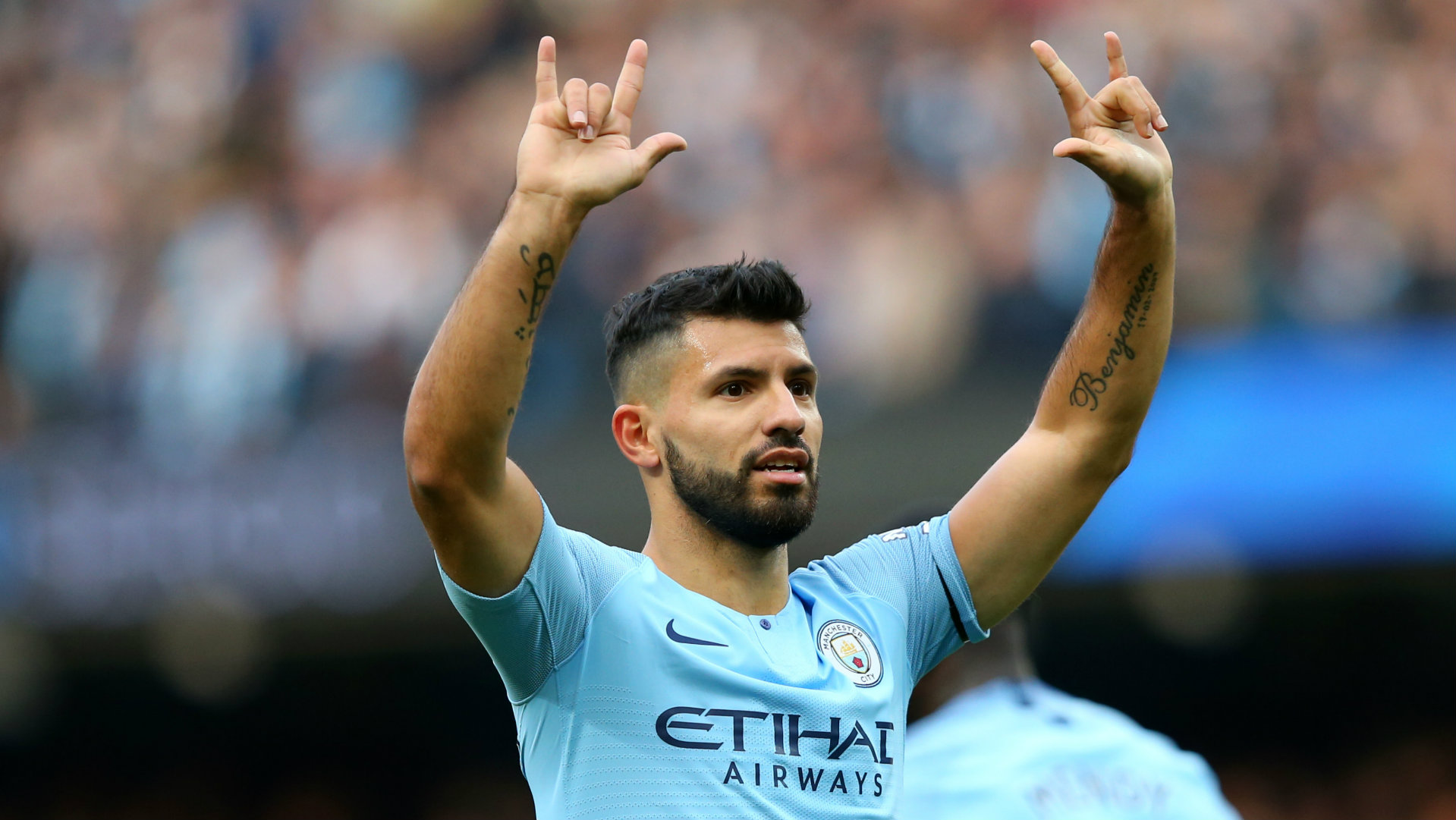 Sergio Aguero Man City vs Southampton Premier League 2018-19
