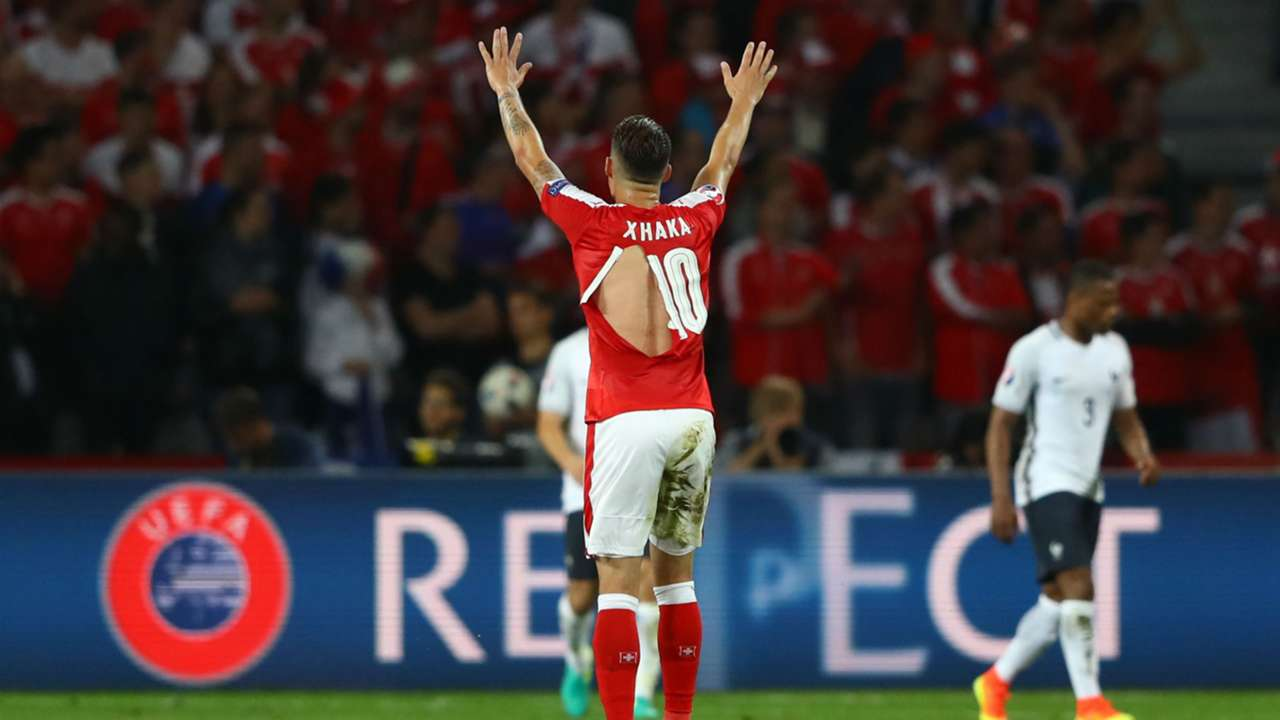 Xhaka France Switzerland Euro 2016