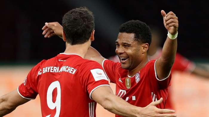 Robert Lewandowski Serge Gnabry Bayern Munich 2019-20
