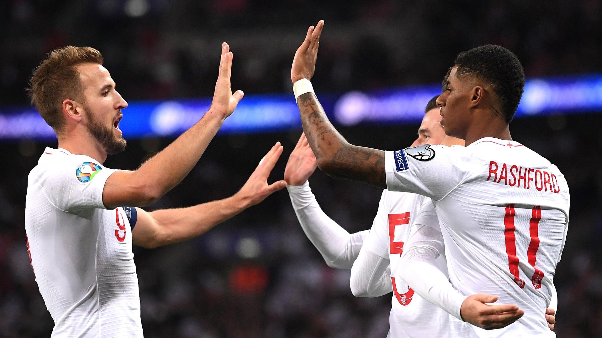 Harry Kane Marcus Rashford England 2019