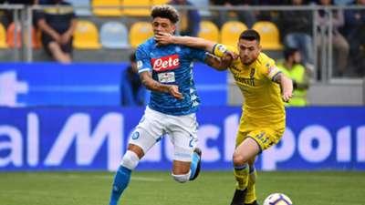 Kevin Malcuit Andrea Beghetto Frosinone Napoli Serie A