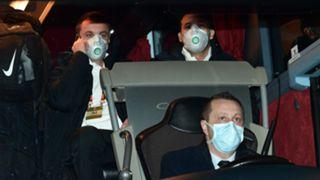 Ludogorets team bus in Milan