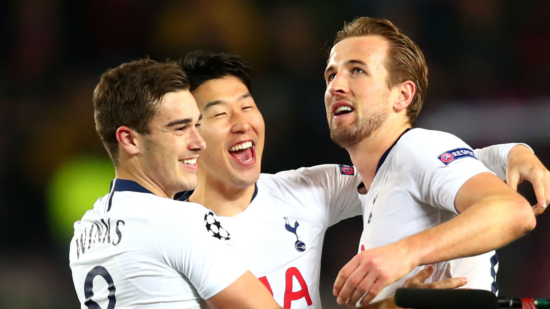 Harry Kane Harry Winks Heung Min Son Tottenham Barcelona 111218