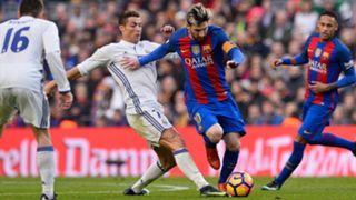 Messi takes on Ronaldo