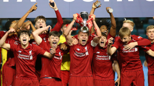 Liverpool celebrate FA Youth Cup