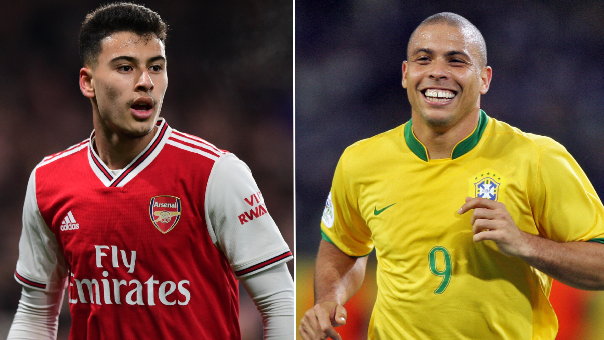 'Martinelli reminds me of Ronaldo' - Ronaldinho 'very excited' about new Arsenal sensation