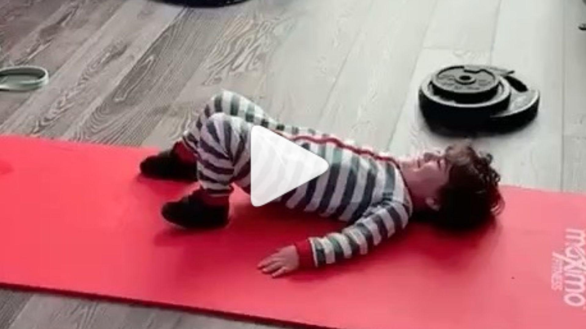 El tierno entrenamiento de Messi con el pequeño Ciro