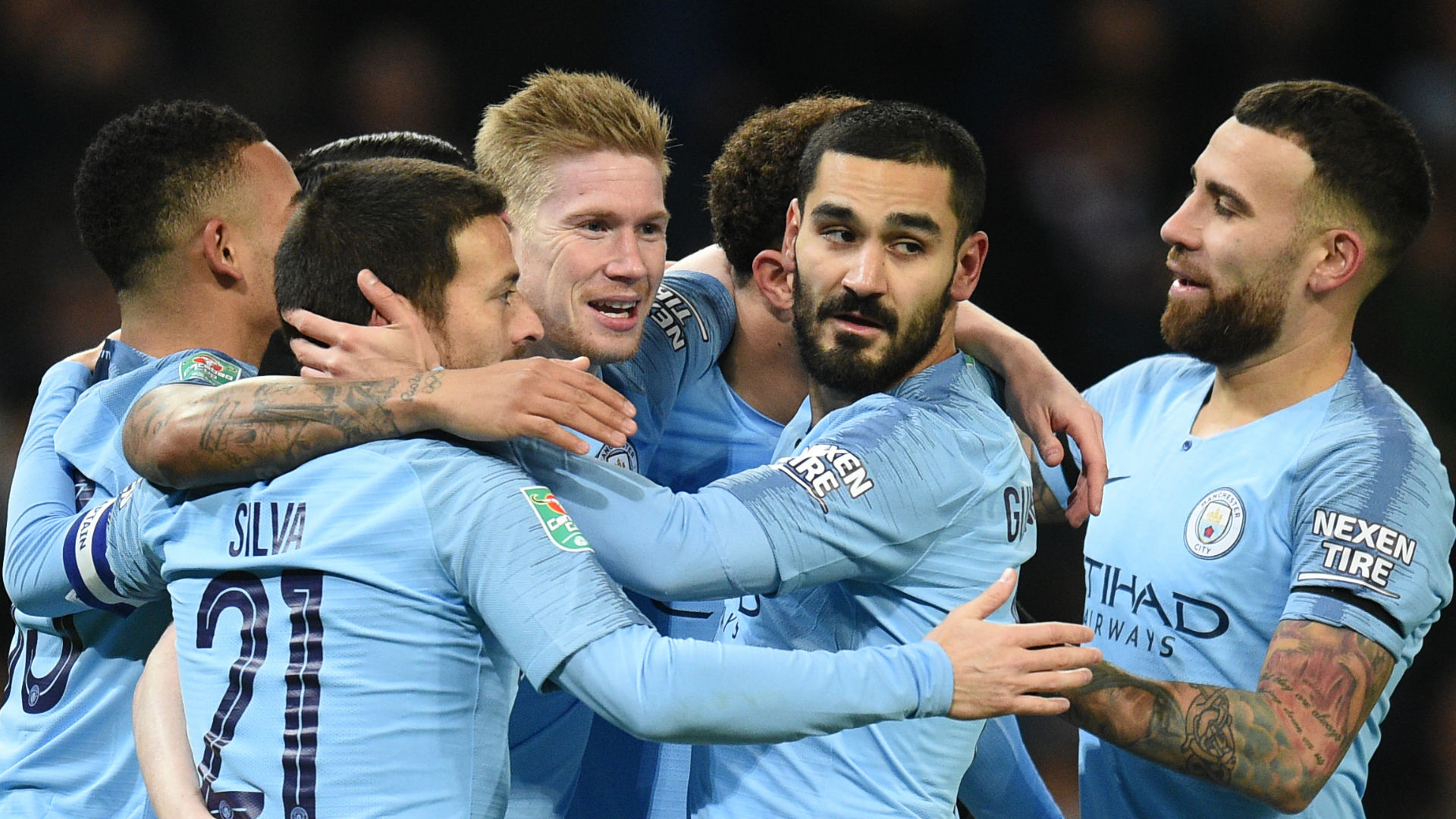 De Bruyne Manchester City Burton 2018-19
