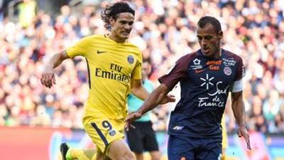 Edinson Cavani Vitorino Hilton Montpellier PSG Ligue 1 23092017