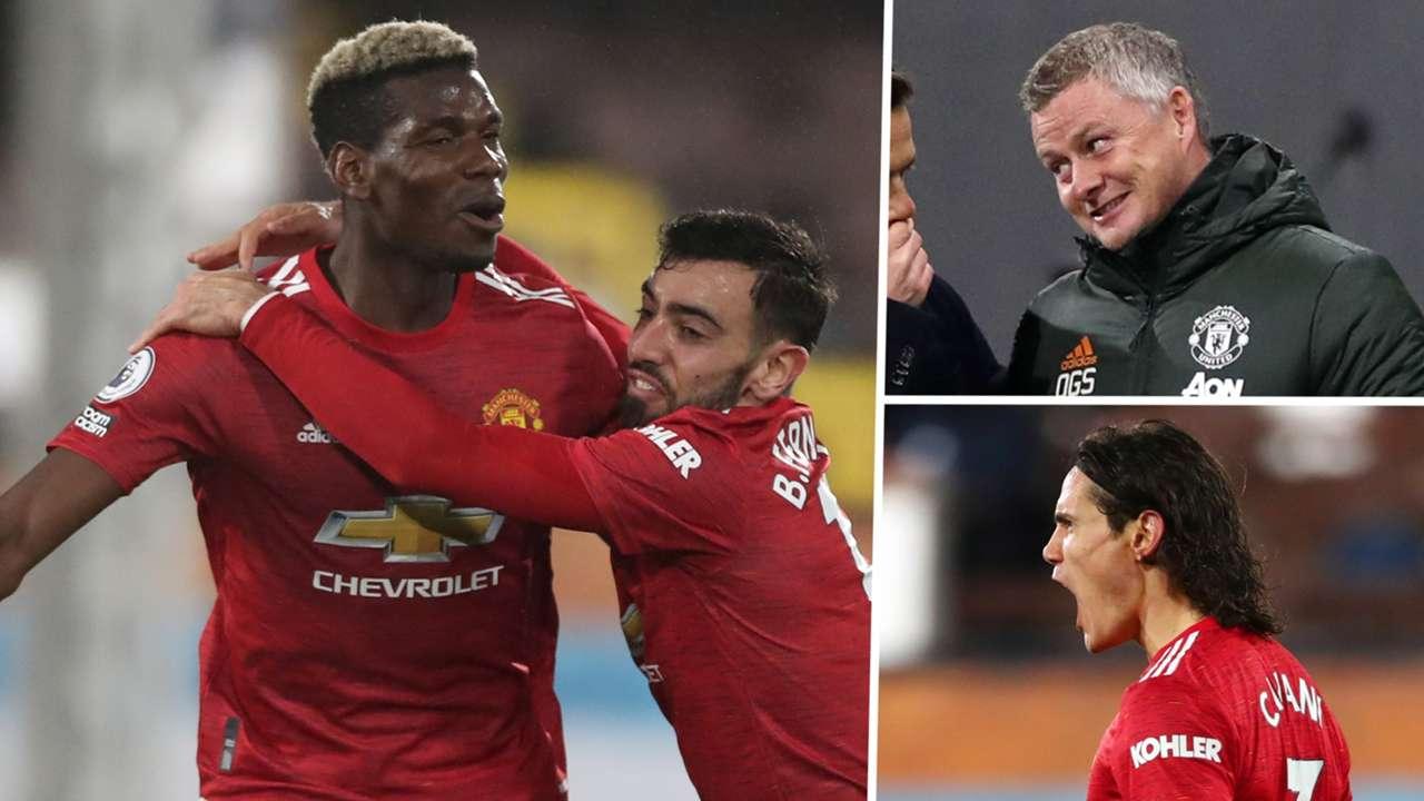 Pogba Solskjaer Cavani Manchester United GFX