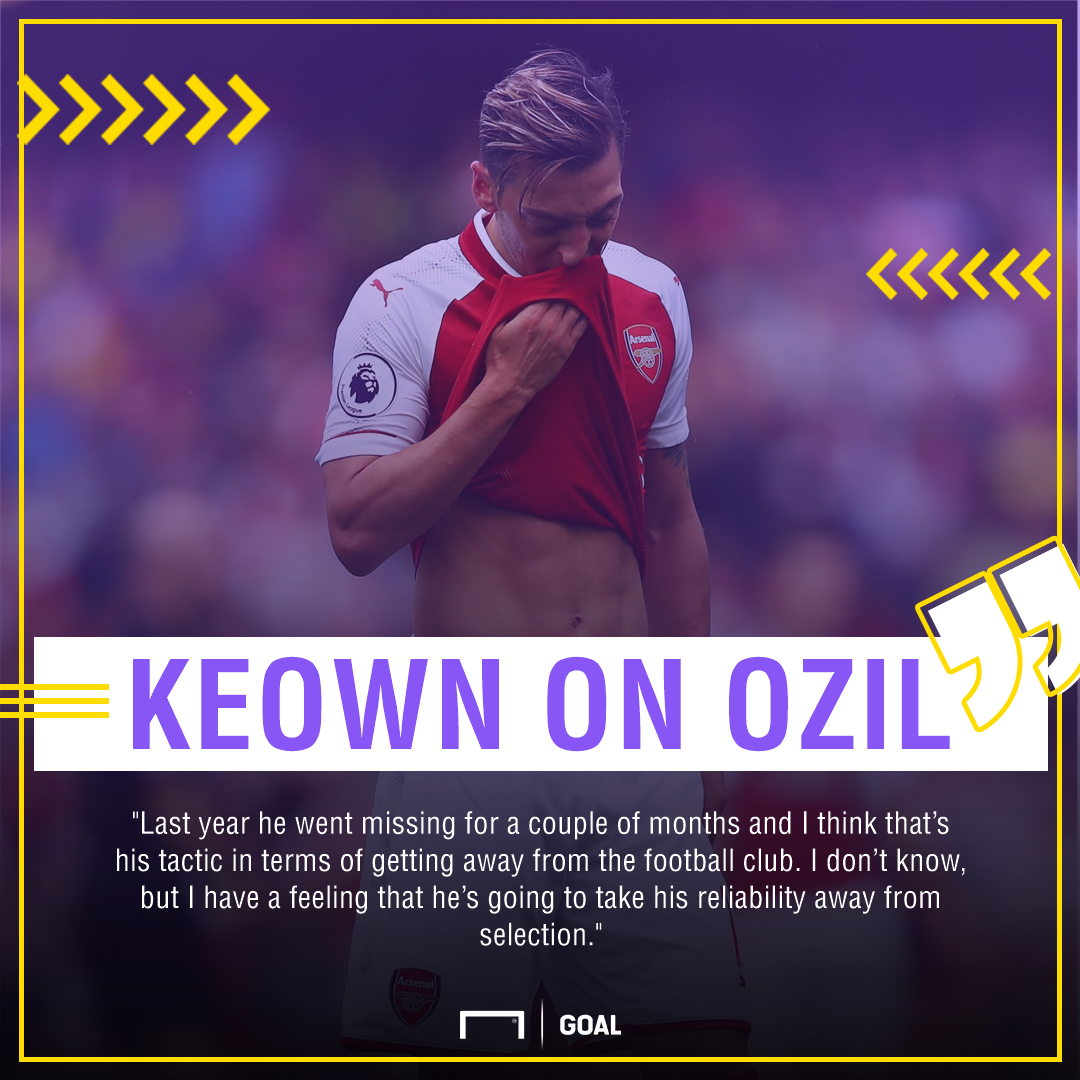 Martin Keown Mesut Ozil Arsenal wants out