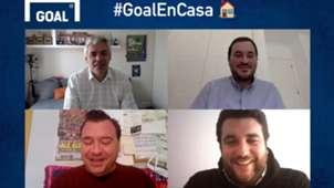 Manu Martín, Paco Rico, Rubén Uría y Fran Guillén en la Tertulia de Goal