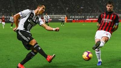 Alessio Romagnoli Cristiano Ronaldo Milan Juventus
