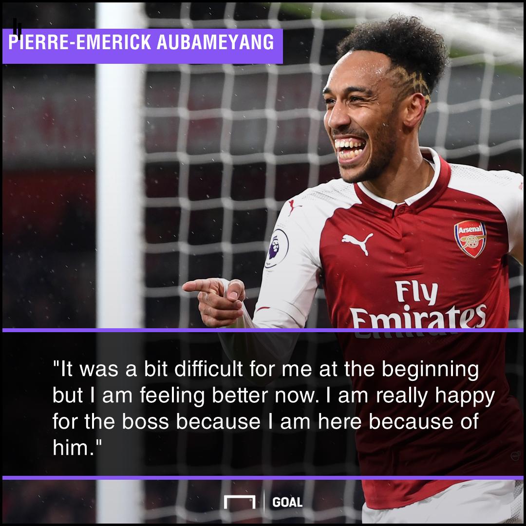 Pierre-Emerick Aubameyang difficult start Arsenal