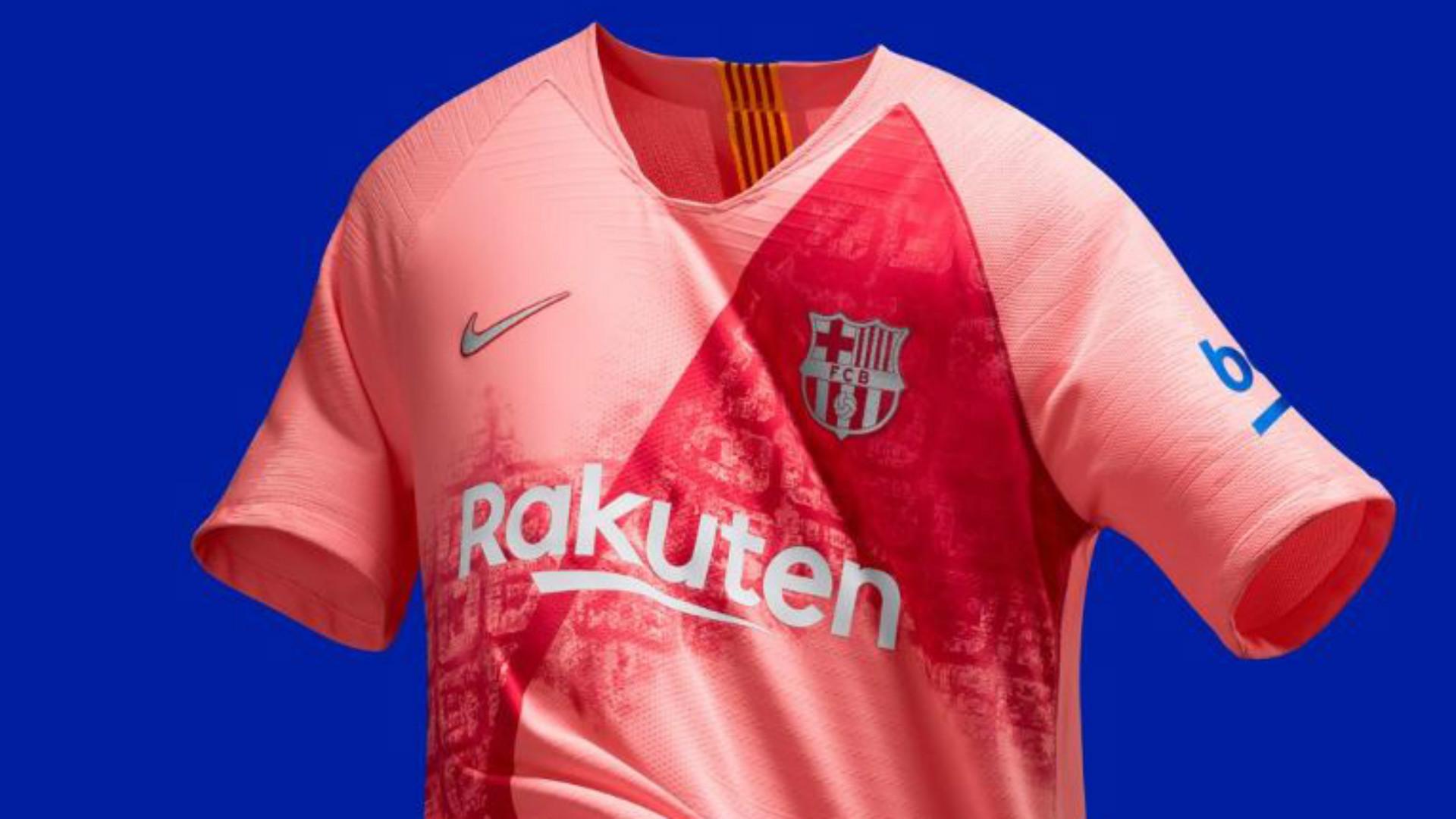 Barcelona News Barca Unveil New Pink Third Kit Goal Com