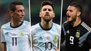 Angel Di Maria Lionel Messi Mauro Icardi Argentina