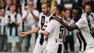 Juventus celebrating Lazio Serie A