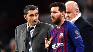 Ernesto Valverde Lionel Messi Barcelona 2019-20