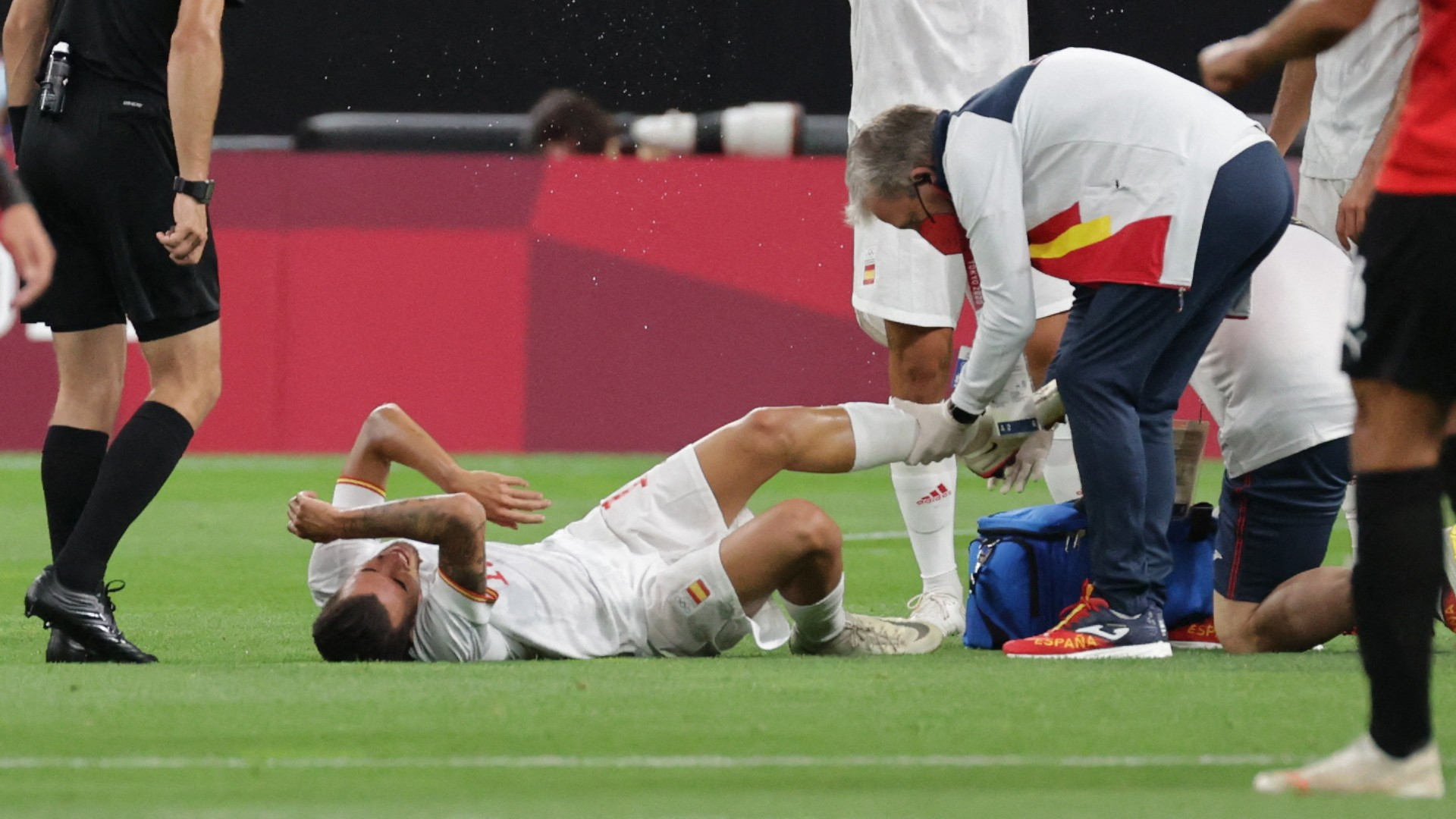 Injury worry for Real Madrid midfielder Ceballos as he limps out of Spain clash with Egypt at Olympics