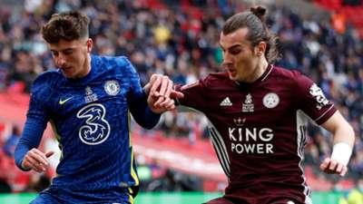Mason Mount Caglar Soyuncu Chelsea Leicester 2020-21