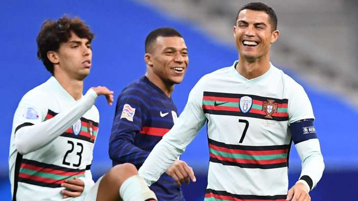 Cristiano Ronaldo Kylian Mbappe France Portugal Nations League 11102020