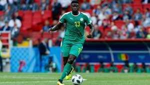 Alfred Ndiaye of Senegal controls the ball during the 2018 FIFA World Cup Russia group H match between Poland and Senegal at Spartak Stadium on June 19, 2018