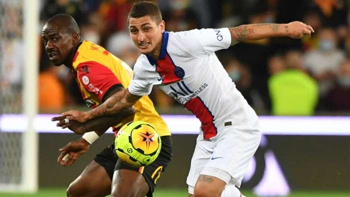 Marco Verratti Gael Kakuta Lens PSG Ligue 1 10092020