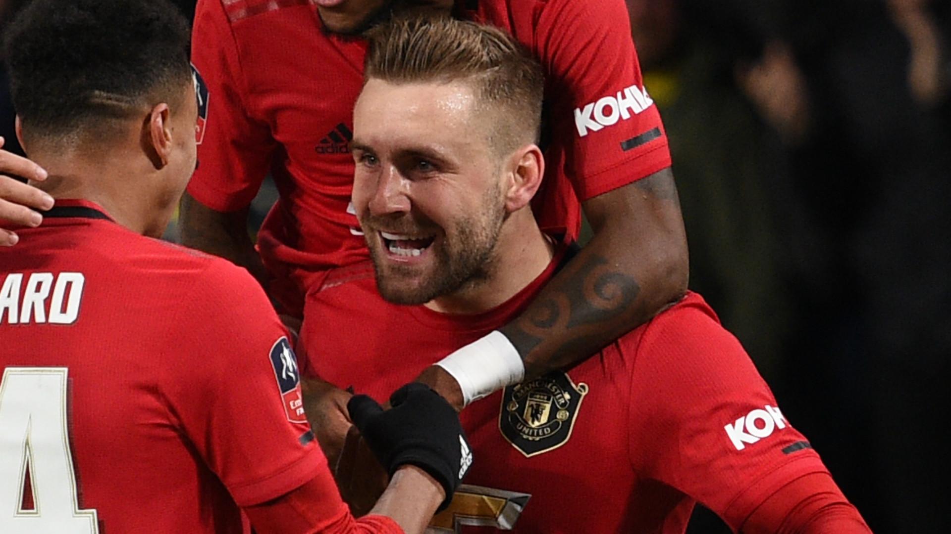 Luke Shaw Manchester United 2019-20