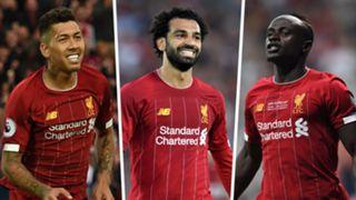 Roberto Firmino Mohamed Salah Sadio Mane Liverpool 2019-20