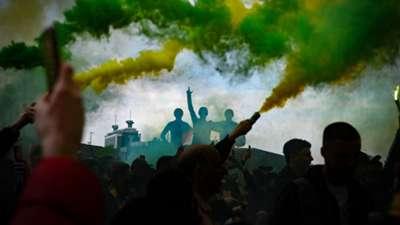 Manchester United Old Trafford Glazer protests