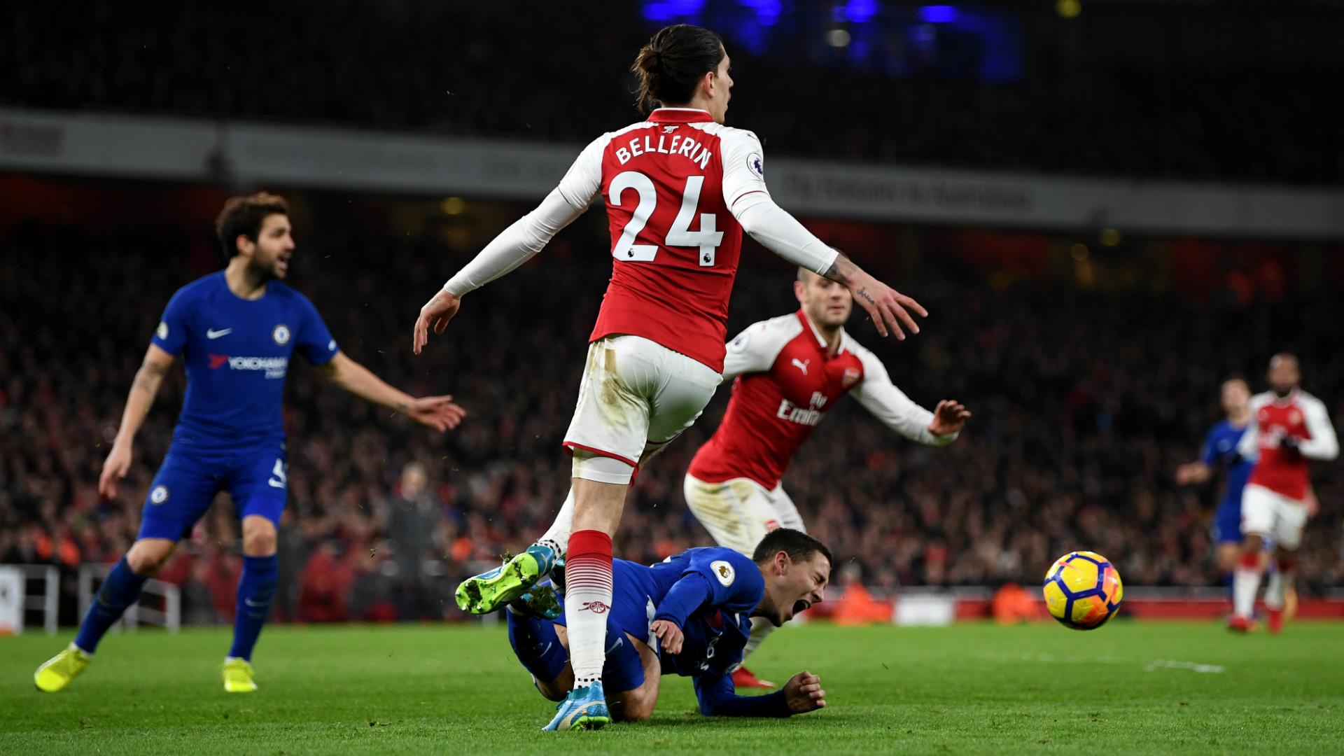 Hector Bellerin Eden Hazard Arsenal Chelsea