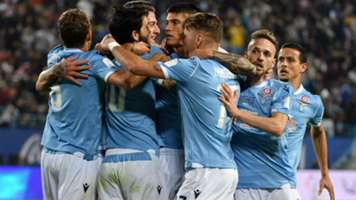 Lazio celebrating Juventus Supercoppa Italiana