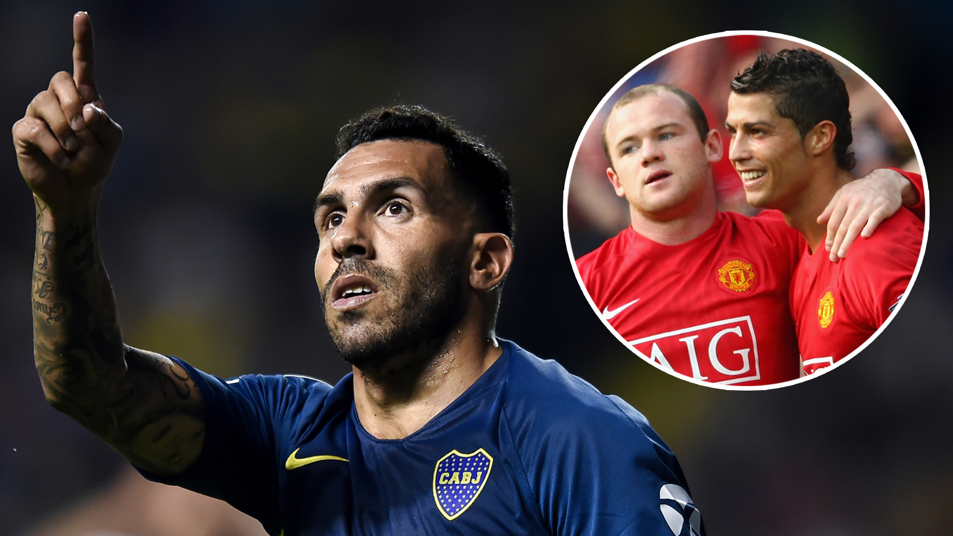 Ronaldo & Rooney join Messi in Tevez's dream XI as seven Man Utd players feature but City stars snubbed