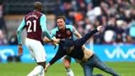 West Ham pitch invasion Mark Noble Burnley Premier League
