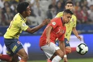 Juan Cuadrado Colombia - Alexis Sánchez Chile Copa América 2019
